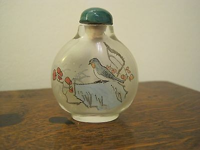 Chinese Handpainted Glass SNUFF BOTTLE