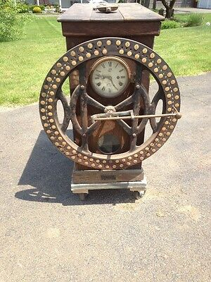 Rare International Time Recording Clock Perseverance Worsted Mills RI Unusual