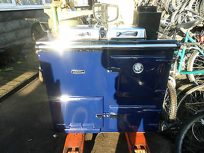 Rayburn Nouvelle Blue Gas Range Cooker Cooking Heating Like Aga