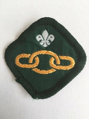 UK Scout Link Badge.1981 - 1991