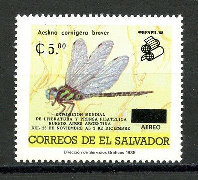 Salvador MNH Scott #C544 Dragon Fly Insect SCHG PRENFIL '88 $$$