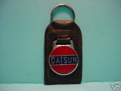 Datsun Red & Blue Leather Key Fob   FREE SHIPPING
