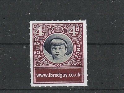 I.B.Red Guy 4d four Pence Free with random purchase stamp