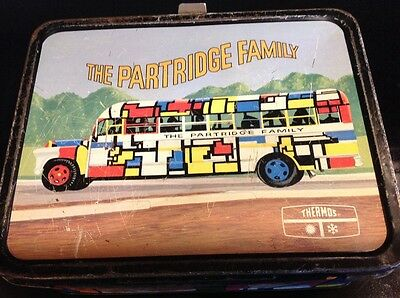 Vintage 1971 Partridge Family Lunch Box & Thermos Good Condition THERMOS BRAND