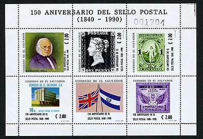 Salvador MNH Scott #1247 First Postage Stamps Philately Roland Hill CV$9+