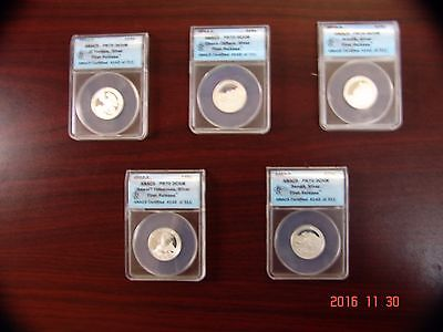 2012-S 25C Proof Set Silver Quarter (Proof)-First Release-graded PR70 by ANACS