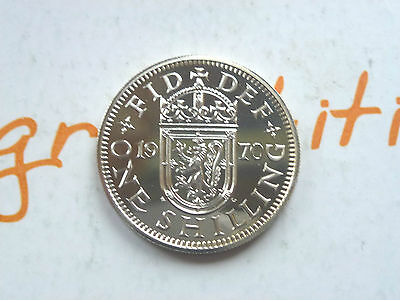 Rare 1970 Royal Mint Proof One Shilling Scottish Last Year Of Issue Coin Hunt ~~