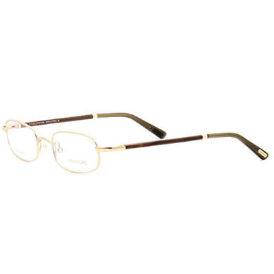 Tom Ford Mens FT5219-028 Eyeglasses Shiney Gold Rectangle Frames