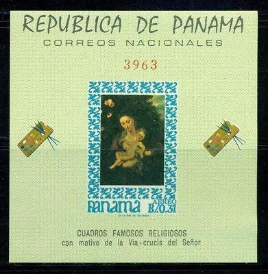 Panama Scott #476G MNH Famous Religious Paintings IMPERF CV$20