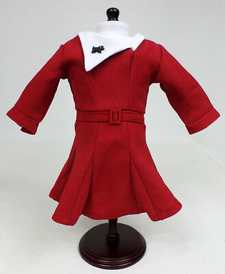 NEW Authentic American Girl Doll KIT Red Christmas Dress w Scottie Dog Pin