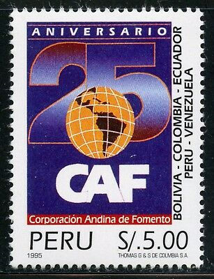 Peru  MNH  Scott #1111 Andes Development Corp. - 25th Ann Map CV$12+