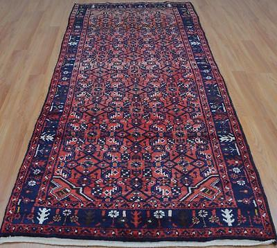 3'8 x 9'6 Genuine S Antique Persian Zanjan Hamedan Hand Knotted Wool Rug Runner