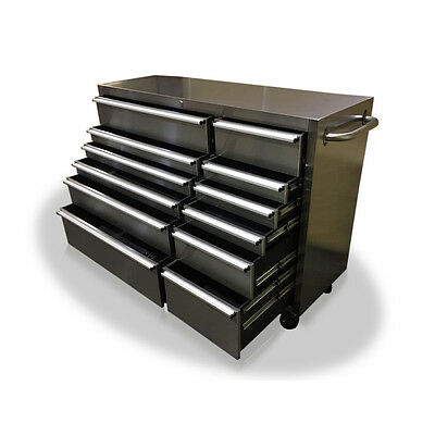 """Us Pro Massive Tool Chest Box Roller Cabinet Stainless Steel 54"""""""