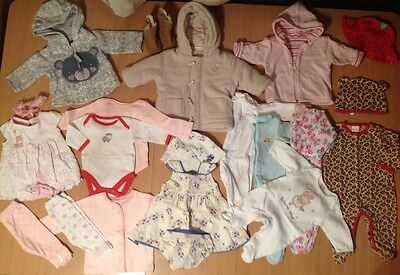 0-3 months baby girl clothes bundle jackets leggings boots etc 20+ items