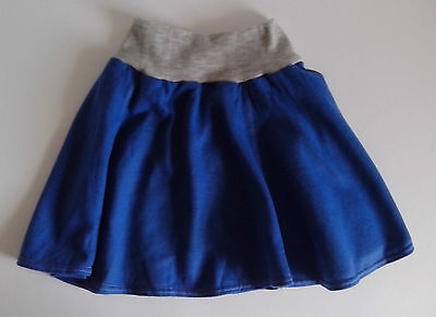 Blue with Grey waistband Skating Skirt   Size: 100cm   1980s vintage