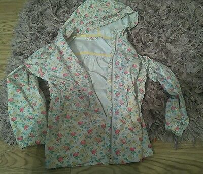 Next Infant Girls 7 Yrs Lightweight Floral Hooded  Zip Up Coat