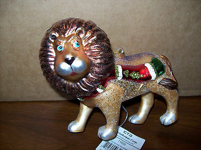 Christomas Corp HOLIDAY LION (w/red and green scarf) Ornament