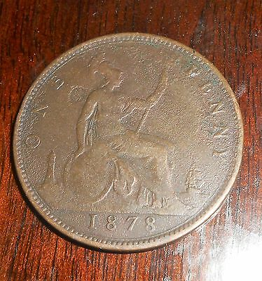 Nice Great Britain 1878 Penny Nicer Coin