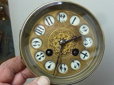 Antique French Clock Striking Movement & Ornate Dial - Working Fine (Zg)
