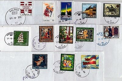 Latvia: Commemorative Stamps On Letters 1994-2013 Nice Round Postmarks