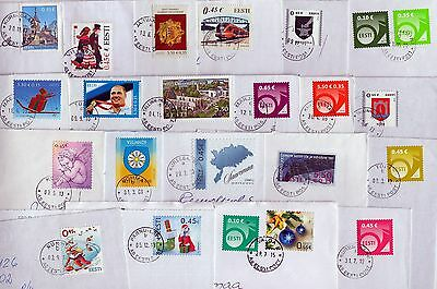 Estonia: Different Recent Stamps On Letters,nice Round Postmarks