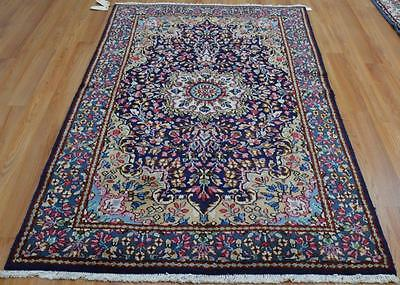 4 x 6'8 Gorgeous Authentic Persian Kerman Hand Knotted Oriental Wool Area Rug