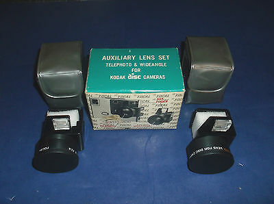 Focal Auxiliary Lens Set Telephoto & Wideangle Lens for Kodak Disc Cameras