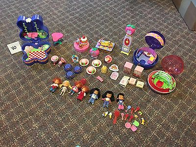 Lot Of Strawberry Shortcake Playsets Mini Dolls Clock W/sound & Accessories GUC