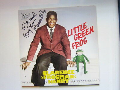 CLARENCE FROGMAN HENRY Little Green Frog AUTOGRAPHED Bear Family lp