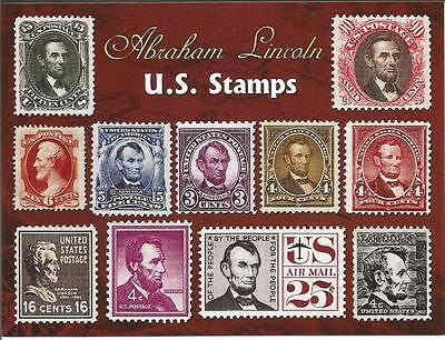 Abraham Lincoln Stamps Postcard