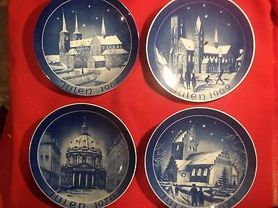 4 - Julen Plates  Collectables 1968 1969 1970 1871 In Boxes   Free Shipping