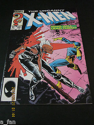 Uncanny X-Men #201 January 1986 Chris Claremont 1st Cable as baby - Ron Reagan
