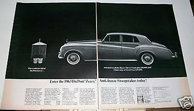 1963 Rolls-Royce Silver Cloud Dupont Zerex contest Ad