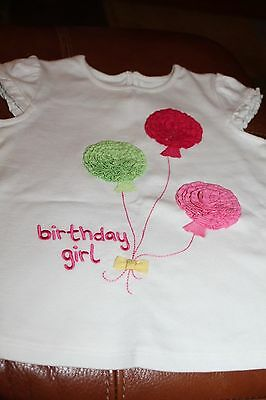 NWT GYMBOREE Birthday Girl Balloon Top Ivory Green Pink 2T