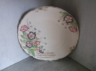 Royal Staffordshire Pottery Wilkinson Pink Purple Flowers Dinner Plate 9 1/8""