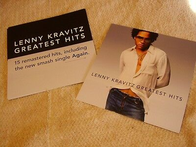 Lenny Kravitz *EIGHT Two-Sided Greatest Hits 2000 Cardboard Poster Flats!
