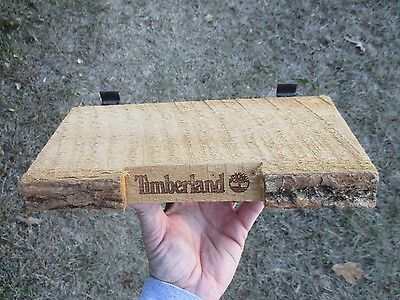 Vintage Real Wood Advertising Timberland Shoes Shoe Store Display Slat Wall Sign