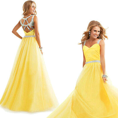 Women Chiffon Bridesmaid Formal Long Gown Ball Party Cocktail Evening Prom Dress