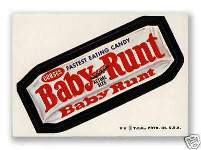 1974 Topps Wacky Packages Baby Runt Candy Bar 6th Series 6 EX+