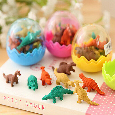Novelty Dinosaur Egg Pencil Rubber Eraser Students Office Stationery Kid Toy FUN