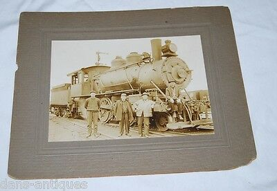 """Antique New York Central train photograph - photo is 6"""" x 8"""", mount 12"""" x 10"""""""