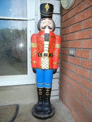 "Giant Soldier Nutcracker Christmas Figure - Large Deluxe Decoration - 38"" Tall"