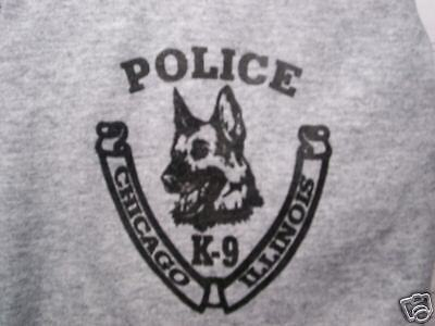 Chicago  Police  K-9 Printed T-Shirt Size  X-Large