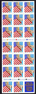 U.S. STAMPS: MINT BOOKLET PANES-SCOTT #2920a (pane of 20 + label)
