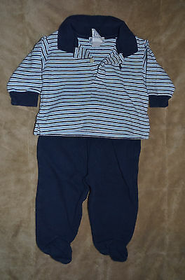 Baby Boys Ralph Lauren 3-6 M 3 6 Month Two Piece Pants and Shirt Set Long Sleeve