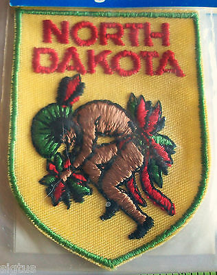 Beautiful Vintage NORTH DAKOTA Voyager Patch Souvenir Embroidered NEW MIP