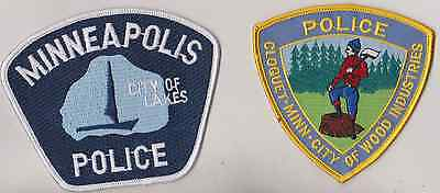Minneapolis & Cloquet Police MN patches