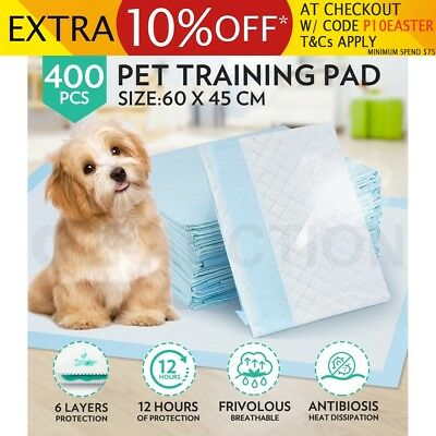 60x45cm 400pcs Super Absorbent Pet Puppy Dog Cat Indoor Toilet Training Pads