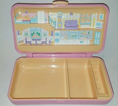 1990 Vintage Polly Pocket Pretty Hair Bluebird Pink Compact NO Figures