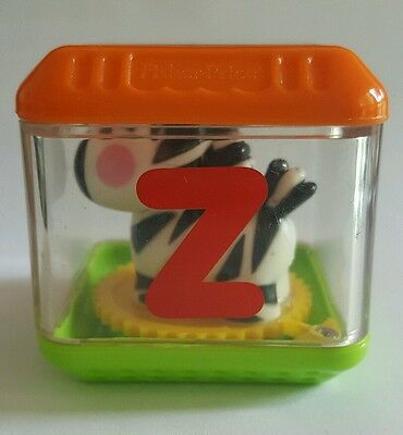 Fisher Price Peek A Blocks Letter Z Zebra Alphabet Replacement Block